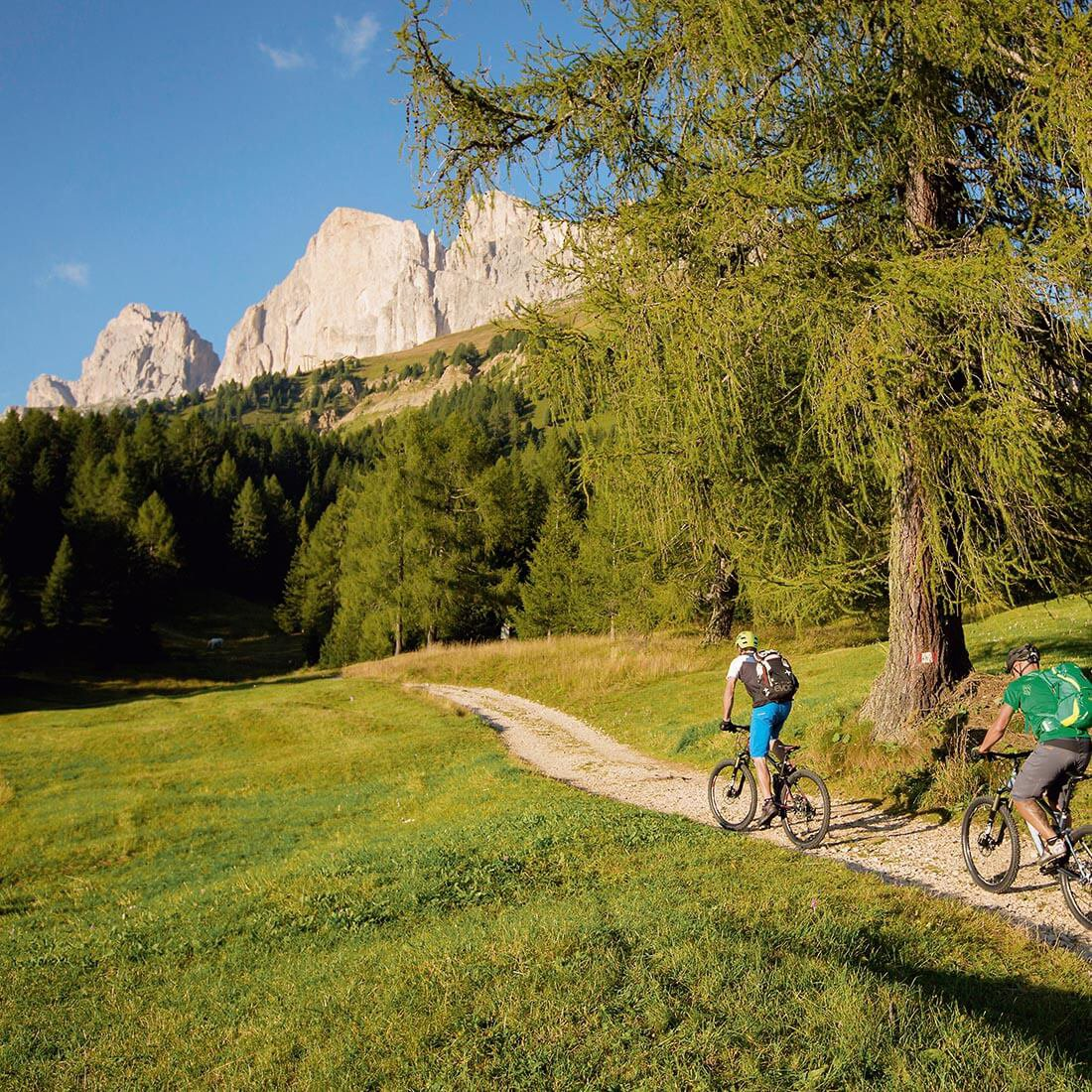 Prackfolerhof or Schlosshof - magnificent mountain scenery of the Dolomites